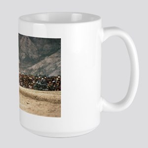 Large Mug - picking up scarves at a gallop!